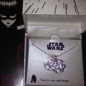 DISNEY STAR WARS R2-D2 CRYSTAL DISC NECKLACE**NEW!